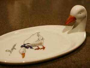 フォアグラ用のお皿