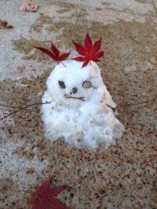 2012年 雪だるま第1号